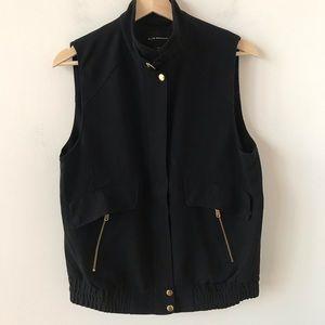 Club Monaco black zipper up vest